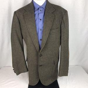 Pendleton 44L Wool Check Suede Elbows Blazer